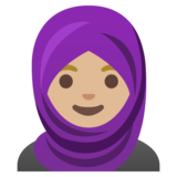 Woman with Headscarf: Medium-Light Skin Tone on Google Android 11.0 December 2020 Feature Drop