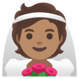 Person With Veil: Medium Skin Tone on Google Android 11.0 December 2020 Feature Drop