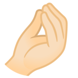 Pinched Fingers: Light Skin Tone on Google Android 11.0 December 2020 Feature Drop