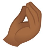 Pinched Fingers: Medium-Dark Skin Tone on Google Android 11.0 December 2020 Feature Drop