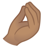 Pinched Fingers: Medium Skin Tone on Google Android 11.0 December 2020 Feature Drop