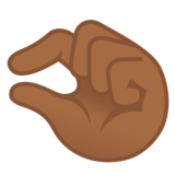 Pinching Hand: Medium-Dark Skin Tone on Google Android 11.0 December 2020 Feature Drop