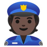 Police Officer: Dark Skin Tone on Google Android 11.0 December 2020 Feature Drop