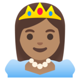 Princess: Medium Skin Tone on Google Android 11.0 December 2020 Feature Drop