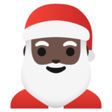 Santa Claus: Dark Skin Tone on Google Android 11.0 December 2020 Feature Drop