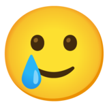Smiling Face with Tear on Google Android 11.0 December 2020 Feature Drop