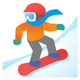 Snowboarder: Dark Skin Tone on Google Android 11.0 December 2020 Feature Drop