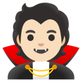 Vampire: Light Skin Tone on Google Android 11.0 December 2020 Feature Drop