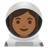 Woman Astronaut: Medium-Dark Skin Tone on Google Android 11.0 December 2020 Feature Drop