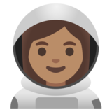 Woman Astronaut: Medium Skin Tone on Google Android 11.0 December 2020 Feature Drop