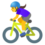 Woman Biking on Google Android 11.0 December 2020 Feature Drop