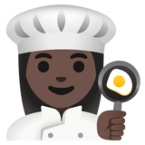Woman Cook: Dark Skin Tone on Google Android 11.0 December 2020 Feature Drop