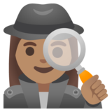 Woman Detective: Medium Skin Tone on Google Android 11.0 December 2020 Feature Drop