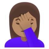 Woman Facepalming: Medium Skin Tone on Google Android 11.0 December 2020 Feature Drop