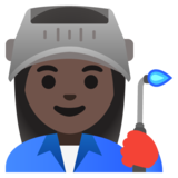 Woman Factory Worker: Dark Skin Tone on Google Android 11.0 December 2020 Feature Drop