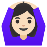 Woman Gesturing OK: Light Skin Tone on Google Android 11.0 December 2020 Feature Drop