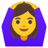Woman Gesturing OK on Google Android 11.0 December 2020 Feature Drop