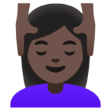 Woman Getting Massage: Dark Skin Tone on Google Android 11.0 December 2020 Feature Drop