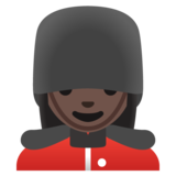 Woman Guard: Dark Skin Tone on Google Android 11.0 December 2020 Feature Drop