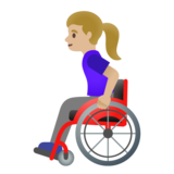 Woman in Manual Wheelchair: Medium-Light Skin Tone on Google Android 11.0 December 2020 Feature Drop