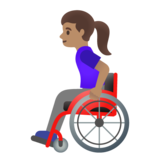 Woman in Manual Wheelchair: Medium Skin Tone on Google Android 11.0 December 2020 Feature Drop