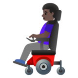 Woman in Motorized Wheelchair: Dark Skin Tone on Google Android 11.0 December 2020 Feature Drop