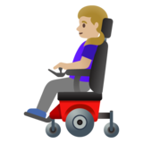 Woman in Motorized Wheelchair: Medium-Light Skin Tone on Google Android 11.0 December 2020 Feature Drop