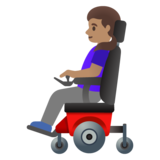 Woman in Motorized Wheelchair: Medium Skin Tone on Google Android 11.0 December 2020 Feature Drop