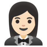 Woman in Tuxedo: Light Skin Tone on Google Android 11.0 December 2020 Feature Drop