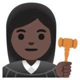Woman Judge: Dark Skin Tone on Google Android 11.0 December 2020 Feature Drop