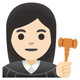 Woman Judge: Light Skin Tone on Google Android 11.0 December 2020 Feature Drop