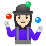 Woman Juggling: Light Skin Tone on Google Android 11.0 December 2020 Feature Drop