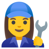 Woman Mechanic on Google Android 11.0 December 2020 Feature Drop