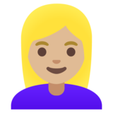 Woman: Medium-Light Skin Tone, Blond Hair on Google Android 11.0 December 2020 Feature Drop