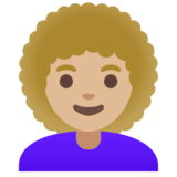 Woman: Medium-Light Skin Tone, Curly Hair on Google Android 11.0 December 2020 Feature Drop