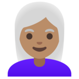 Woman: Medium Skin Tone, White Hair on Google Android 11.0 December 2020 Feature Drop