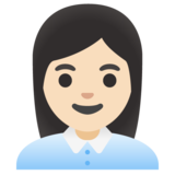 Woman Office Worker: Light Skin Tone on Google Android 11.0 December 2020 Feature Drop