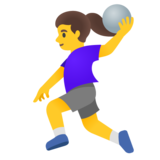 Woman Playing Handball on Google Android 11.0 December 2020 Feature Drop
