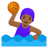 Woman Playing Water Polo: Medium-Dark Skin Tone on Google Android 11.0 December 2020 Feature Drop