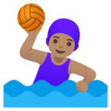Woman Playing Water Polo: Medium Skin Tone on Google Android 11.0 December 2020 Feature Drop