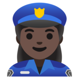 Woman Police Officer: Dark Skin Tone on Google Android 11.0 December 2020 Feature Drop