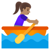 Woman Rowing Boat: Medium Skin Tone on Google Android 11.0 December 2020 Feature Drop
