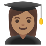 Woman Student: Medium Skin Tone on Google Android 11.0 December 2020 Feature Drop
