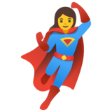 Woman Superhero on Google Android 11.0 December 2020 Feature Drop