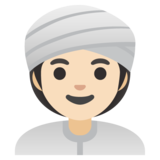 Woman Wearing Turban: Light Skin Tone on Google Android 11.0 December 2020 Feature Drop