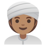 Woman Wearing Turban: Medium Skin Tone on Google Android 11.0 December 2020 Feature Drop