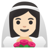 Woman with Veil: Light Skin Tone on Google Android 11.0 December 2020 Feature Drop