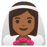 Woman with Veil: Medium-Dark Skin Tone on Google Android 11.0 December 2020 Feature Drop