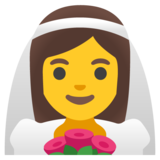 Woman with Veil on Google Android 11.0 December 2020 Feature Drop
