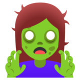 Woman Zombie on Google Android 11.0 December 2020 Feature Drop